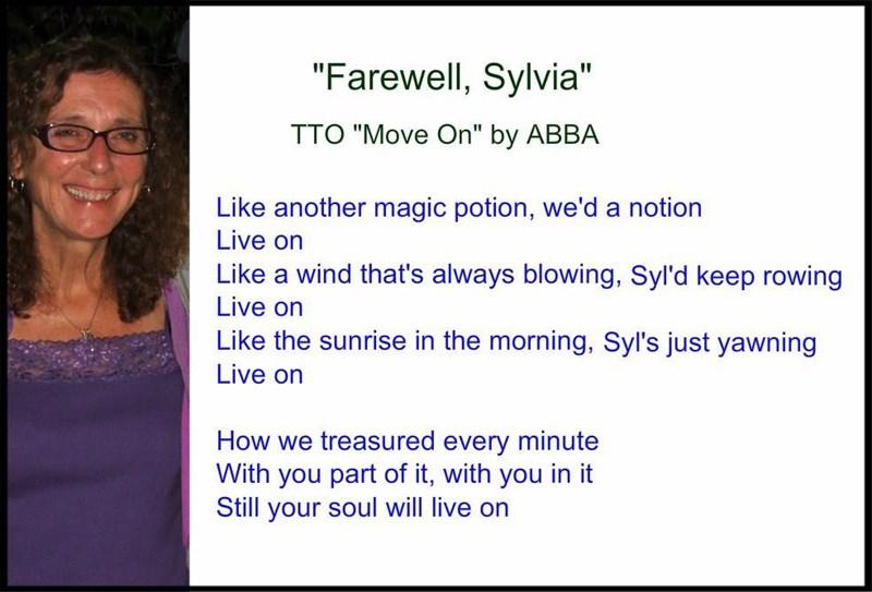 """Farewell, Sylvia (TTO """"Move On"""" by ABBA)"""