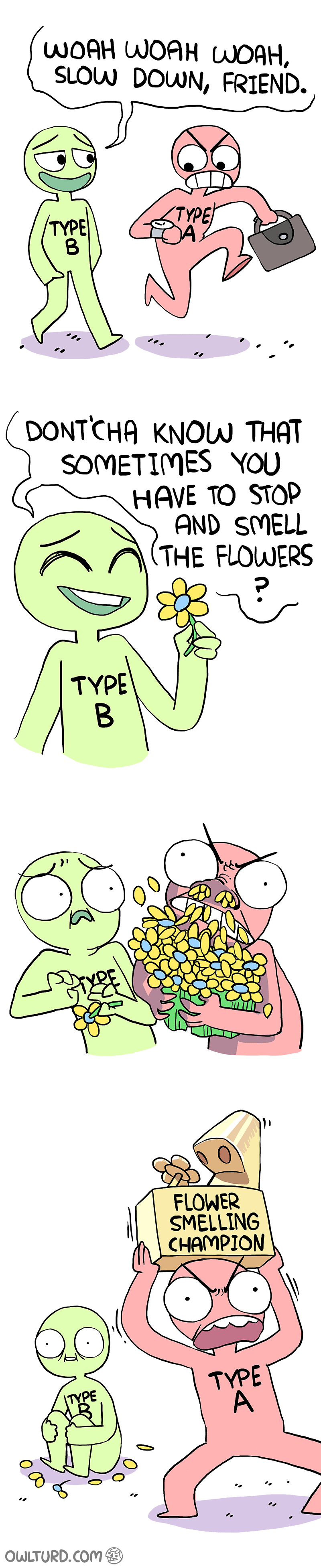 web comics flowers personality You Asked for It
