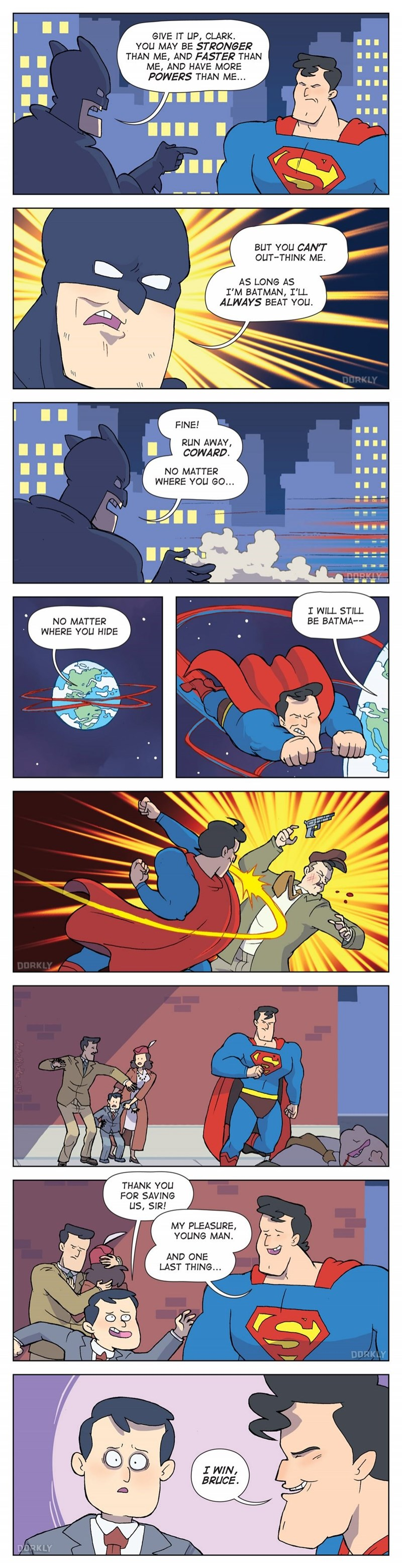 web comics batman super man Everybody Kind of Wins