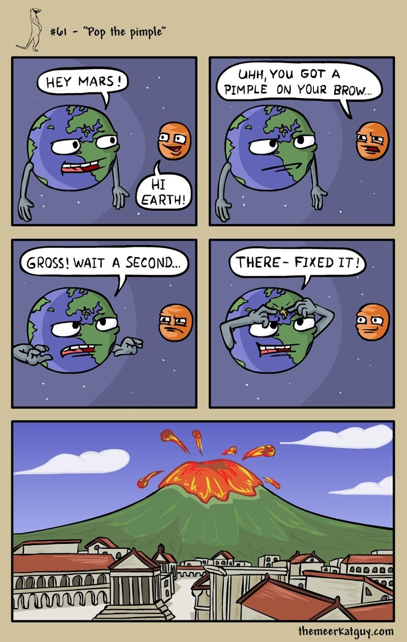 web comics earth volcano That's Gonna Leave a Scar