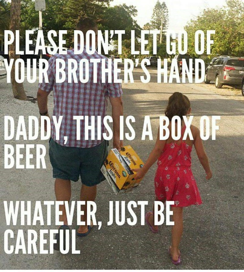 beer parenting dad