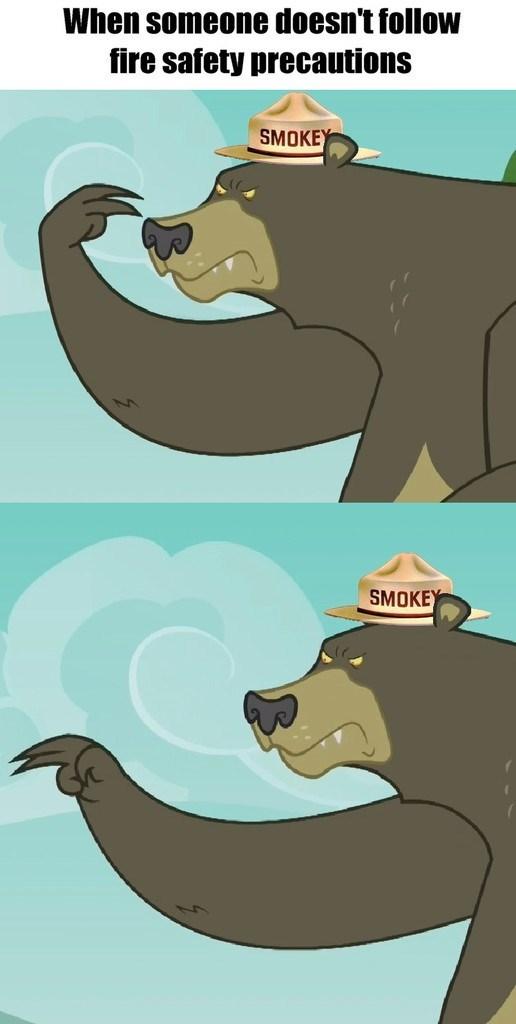 28 pranks later harry the bear Smokey the Bear - 8969483264