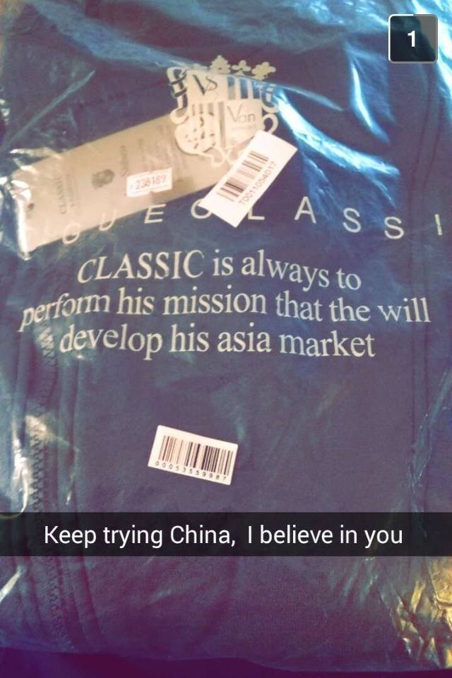 engrish FAIL shirt spelling - 8969573632