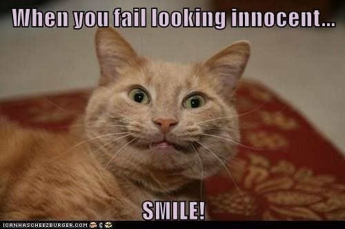 When you fail looking innocent...  SMILE!
