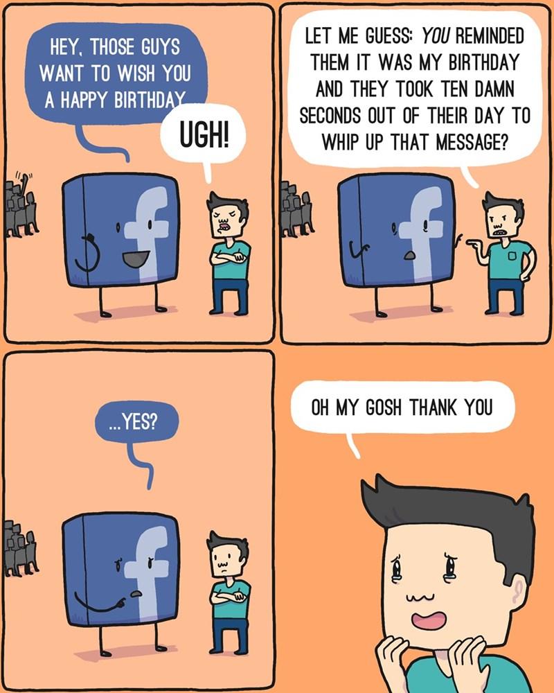 web comics facebook birthdays So Sweet