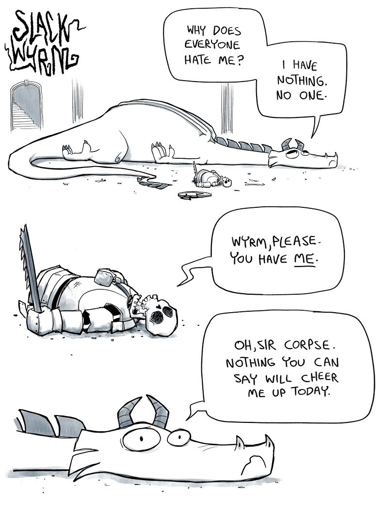 web comics dragon lonely Maybe You Could Try Not Burninating Everyone?