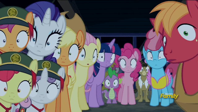 28 pranks later,spike,applejack,Sweetie Belle,twilight sparkle,apple bloom,pinkie pie,matilda,mrs cake,Big Macintosh,rarity,fluttershy,Scootaloo