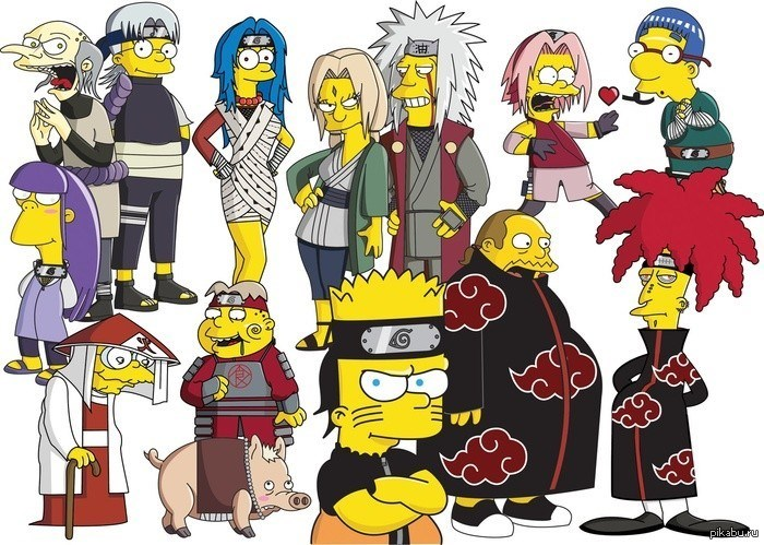 anime naruto the simpsons - 8969983232