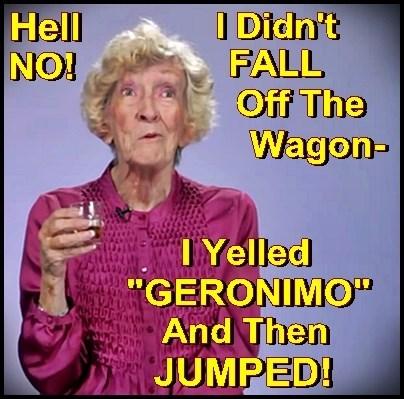 I didn't FALL off the Wagon... I JUMPED!