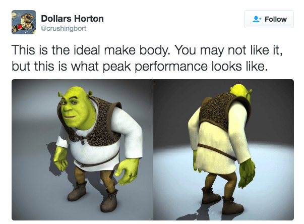 Animation - Dollars Horton Follow @crushingbort This is the ideal make body. You may not like it, but this is what peak performance looks like.