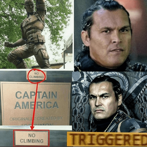funny-captain-america-triggered-moment-no-climbing-on-statue