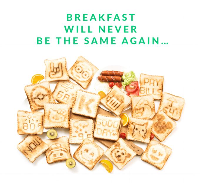 trending news cool food gadget toast kickstarter