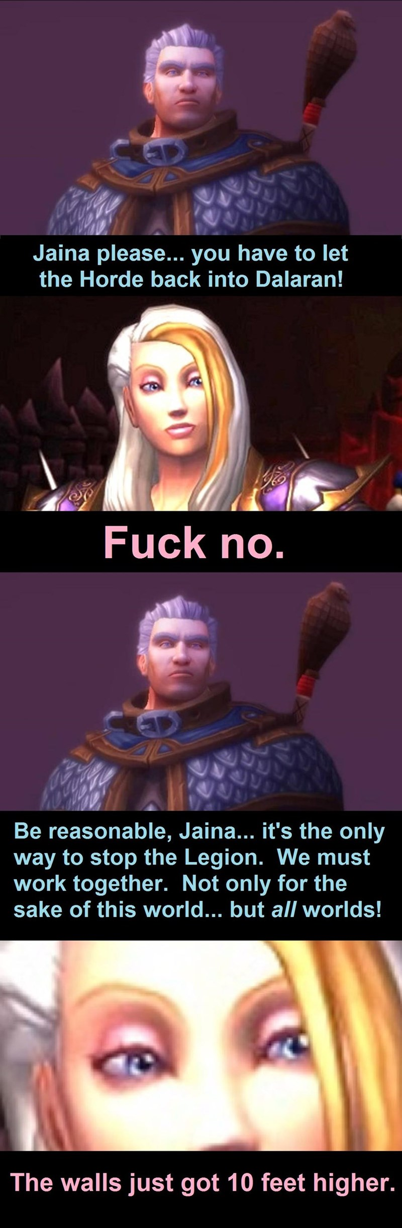 funny-world-of-warcraft-logic-jaina-make-dalara-great-again