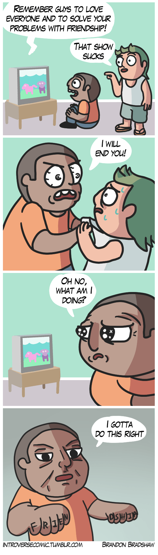 web comics frienship tv Behold the Power of Friendship