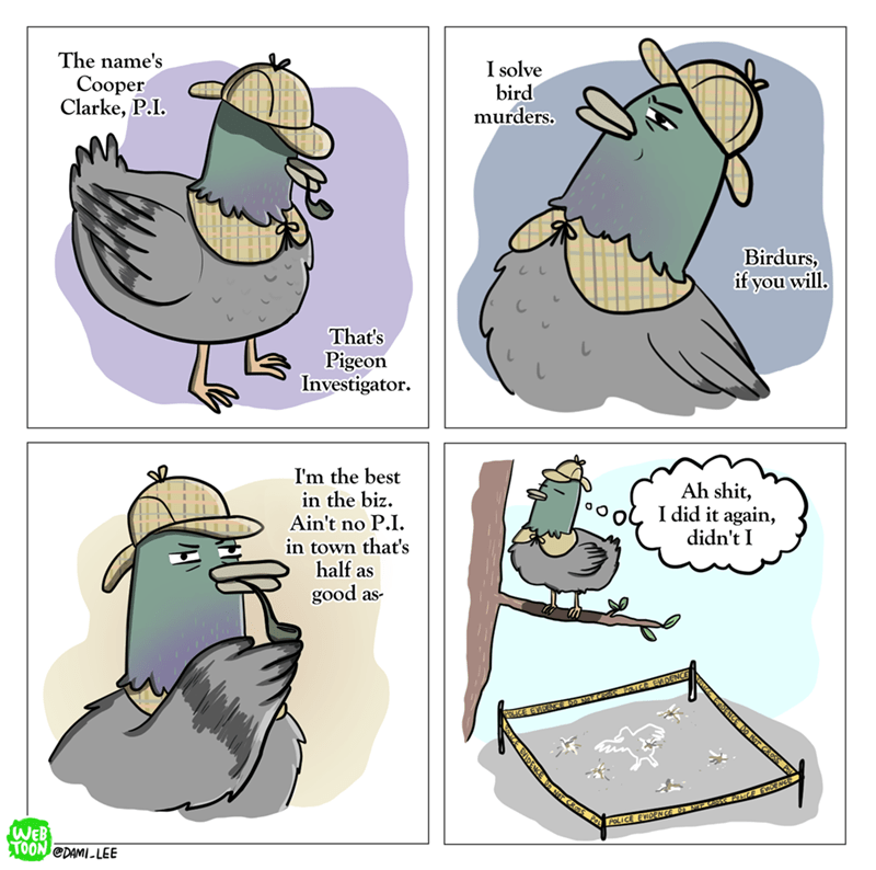 web comics birds murder I Also Happen to Be an Expert in Bird Law