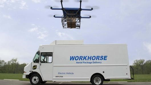 trending news workhorse beats amazon drone deliveries