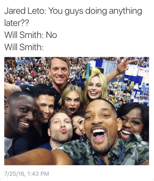 jared leto suicide squad will smith He's Too Edgy For That Party Anyway