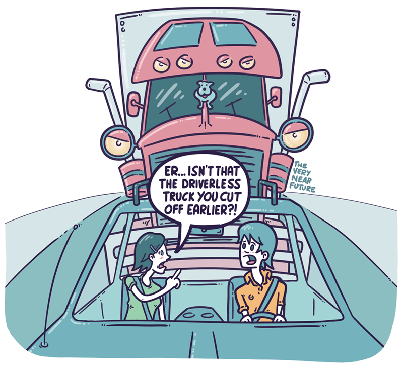 web comics ai road rage You Should Never Cut Off a Semi Truck
