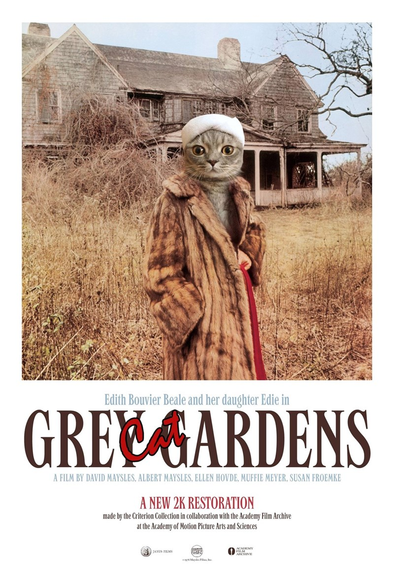 Poster - Edith Bouvier Beale and her daughter Edie in GREEAARDENS A FILM BY DAVID MAYSLES, ALBERT MAYSLES, ELLEN HOVDE, MUFFIE MEYER, SUSAN FROEMKE A NEW 2K RESTORATION made by the Criterion Collection in collaboration with the Academy Film Archive at the Academy of Motion Picture Arts and Sciences ACADEMY ARCHIVE JANUS FILMS