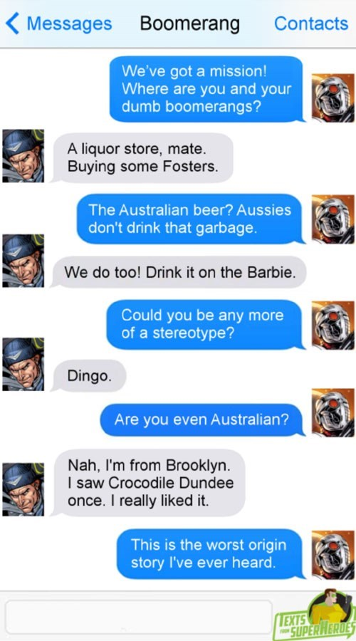 funny-superheroes-stereotypes-with-captain-boomerange-text-conversation