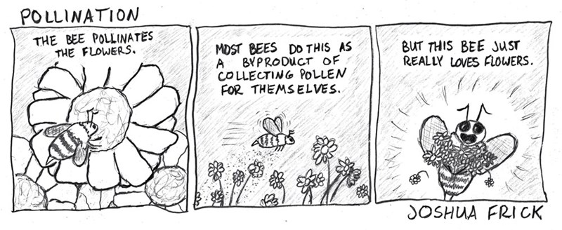 web comics flowers bees He's an Environmentalist