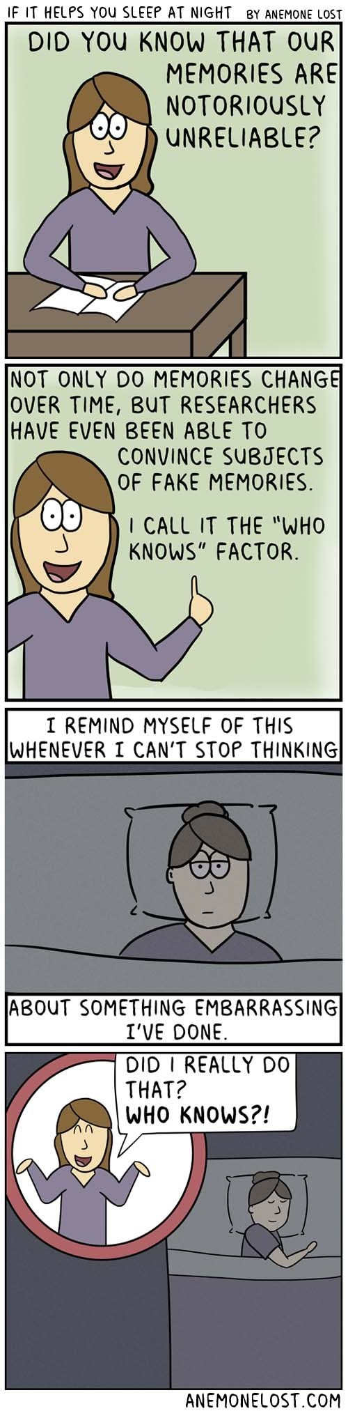 web comics anxiety psychology Even Though You Most Certainly Did Do It
