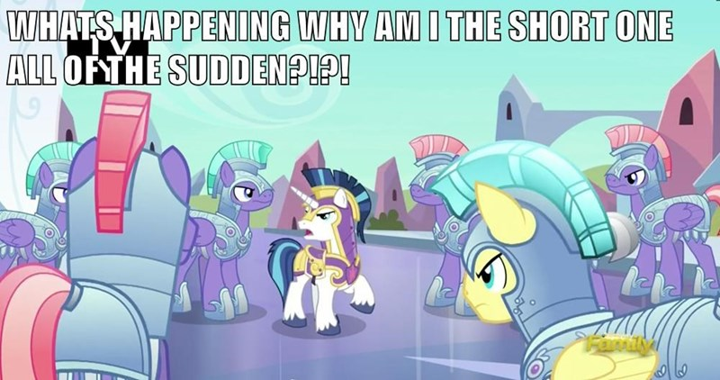 shining armor the times they are a changeling crystal ponies