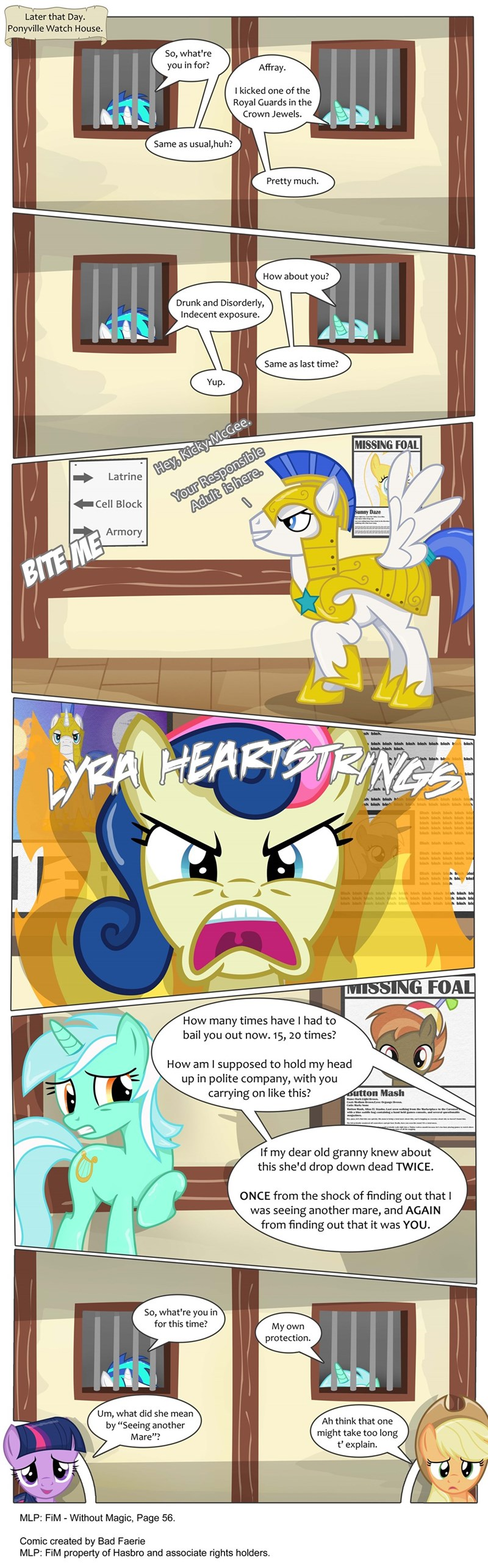 applejack twilight sparkle lyra heartstrings vinyl scratch dj PON-3 comic bon bon - 8970916096
