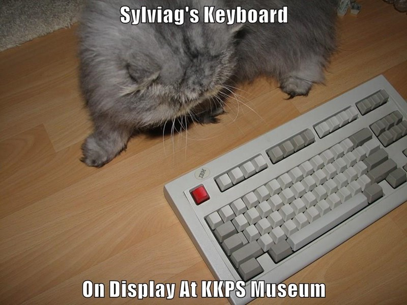Sylviag's Keyboard  On Display At KKPS Museum