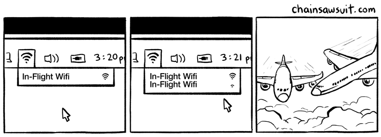 web comics plane crash Plus You Have To Pay Twice for In Flight Wifi Now