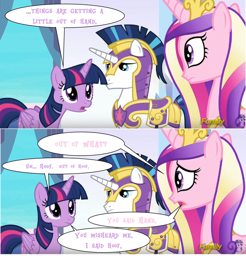 princess cadence,twilight sparkle,shining armor,the times they are a changeling,comic
