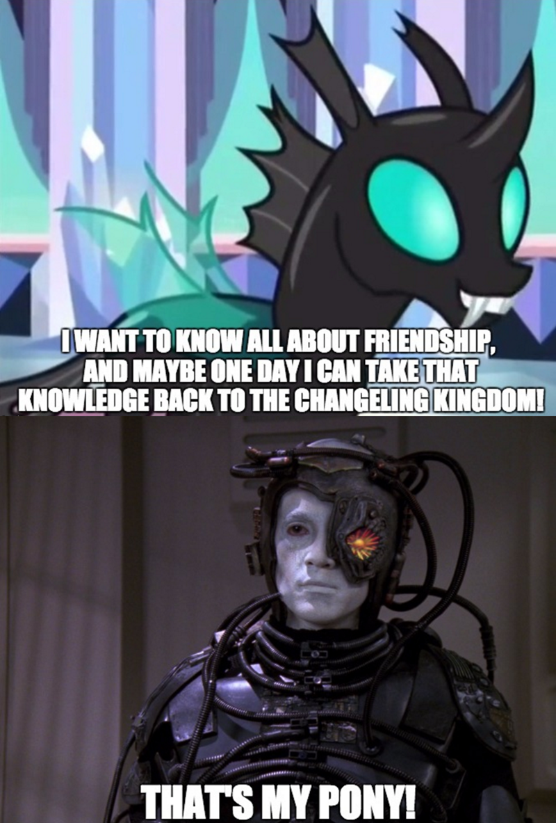 thorax,borg,the times they are a changeling,Star Trek,changelings