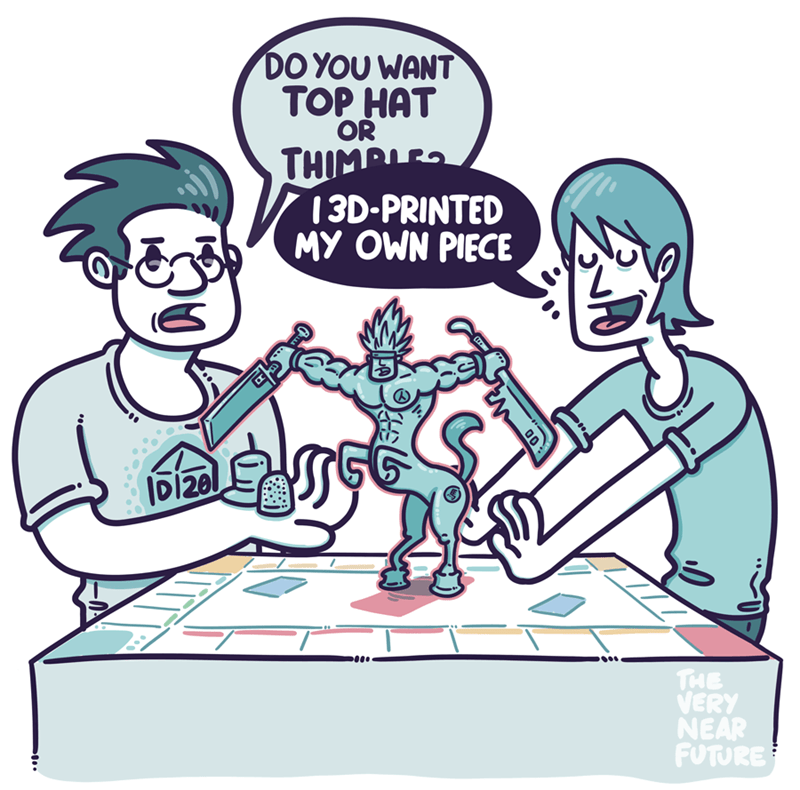 web comics 3d printing monopoly Could You  Make a Smaller Version?