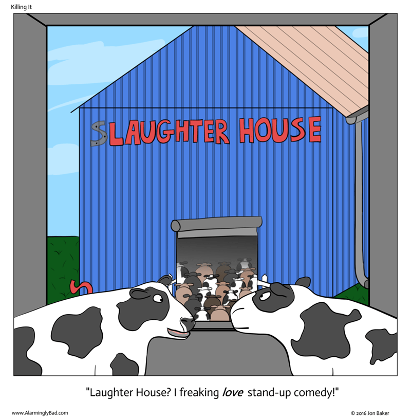 web comics cows surprise They're Totally Killing in There