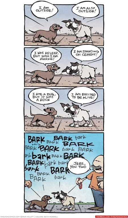 web comics dogs barking What Could They Be Saying to Each Other