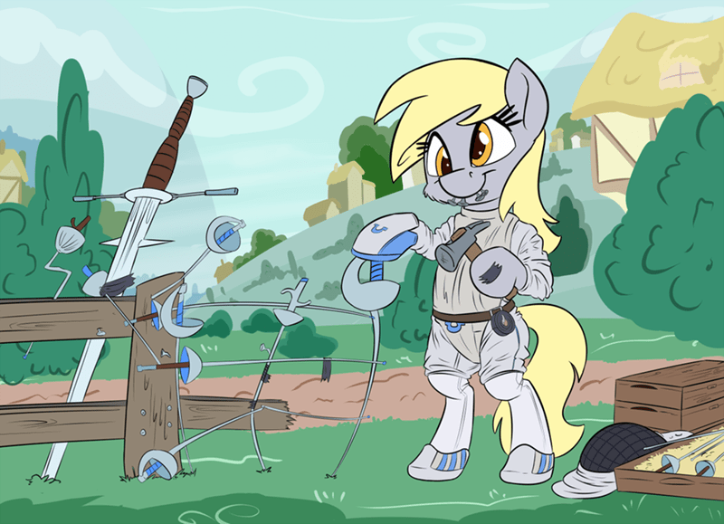 Fencing derpy hooves puns olympics - 8971169280