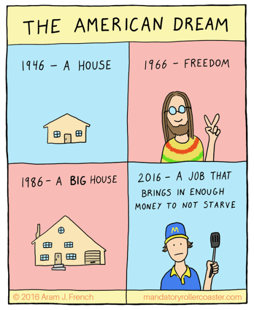 web comics american dream Times Change
