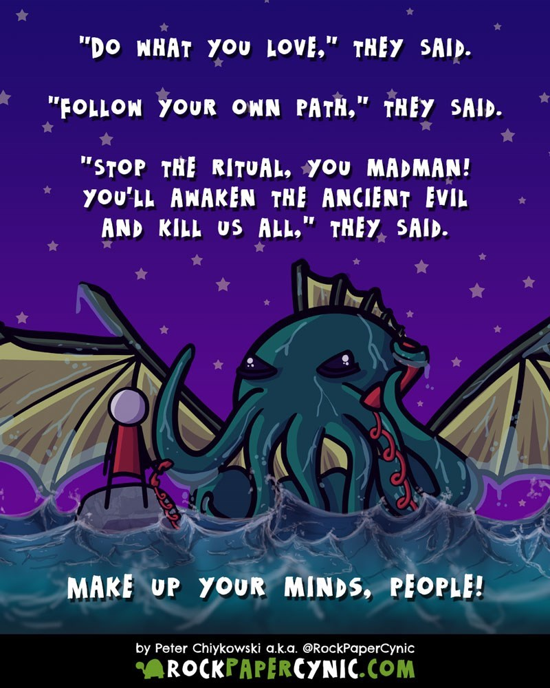 web comics cthulhu individuality Seriously, Which Is IT?