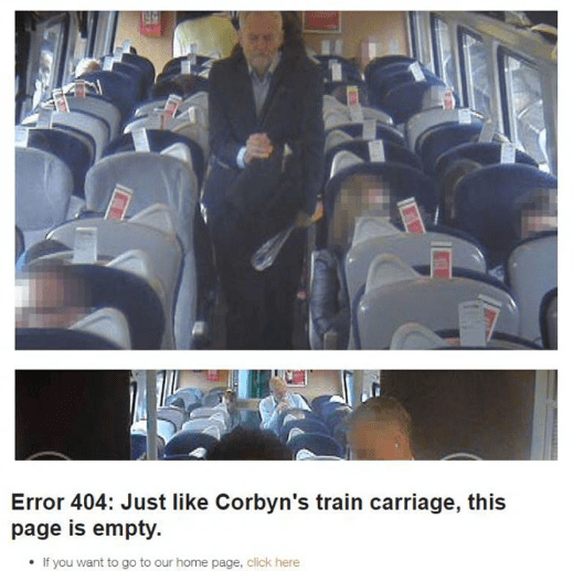 trending politics news brits troll jeremy corbyn 404 error page