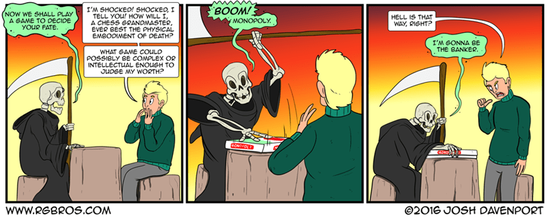 web comics monopoly death The Only Way to Win Is to Stop Playing