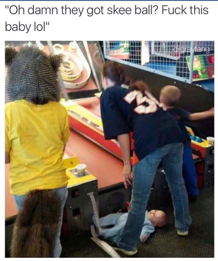 image skee ball parenting Even Mom's Have to Keep Their Priorities Straight