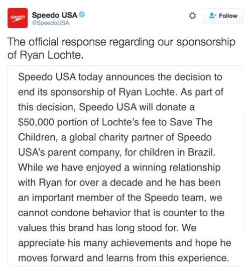 twitter,swimming,ryan lochte,speedo