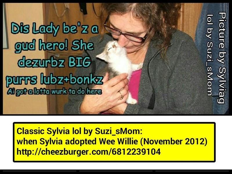 Classic Sylvia lol by Suzi_sMom http://cheezburger.com/6812239104