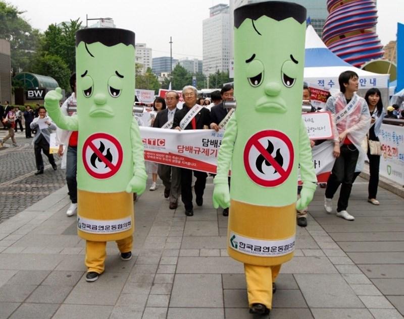 Mascot - 안내 적수 ा BW 24 담배로 담배규제기 TIC 금연운동협의 4리국 1한국금연운동협의