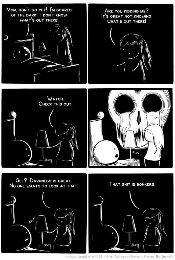 web comics scary dark Ignorance is Bliss