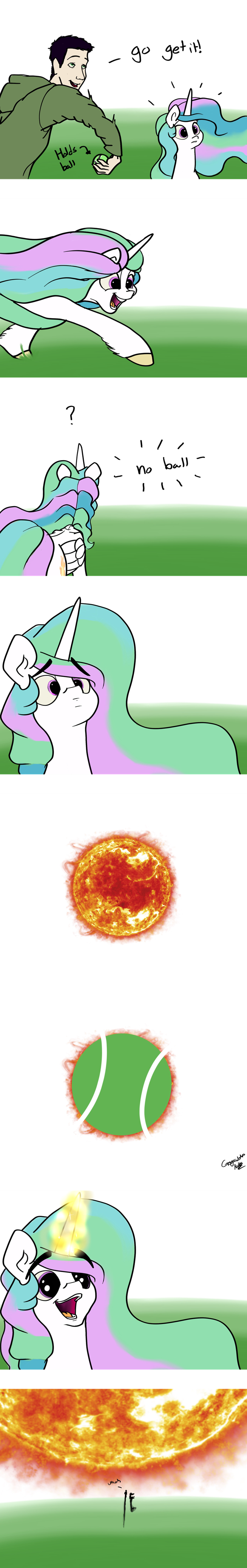 comic,princess celestia,acting like animals