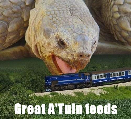 Great A'Tuin feeds