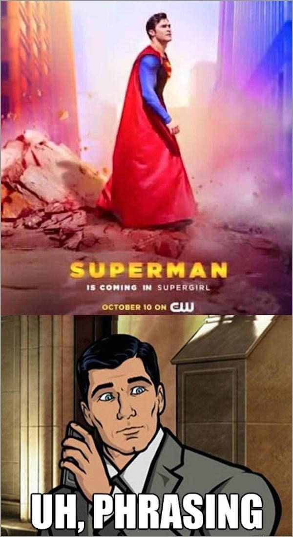 DC archer superheroes superman wordplay - 8971907328
