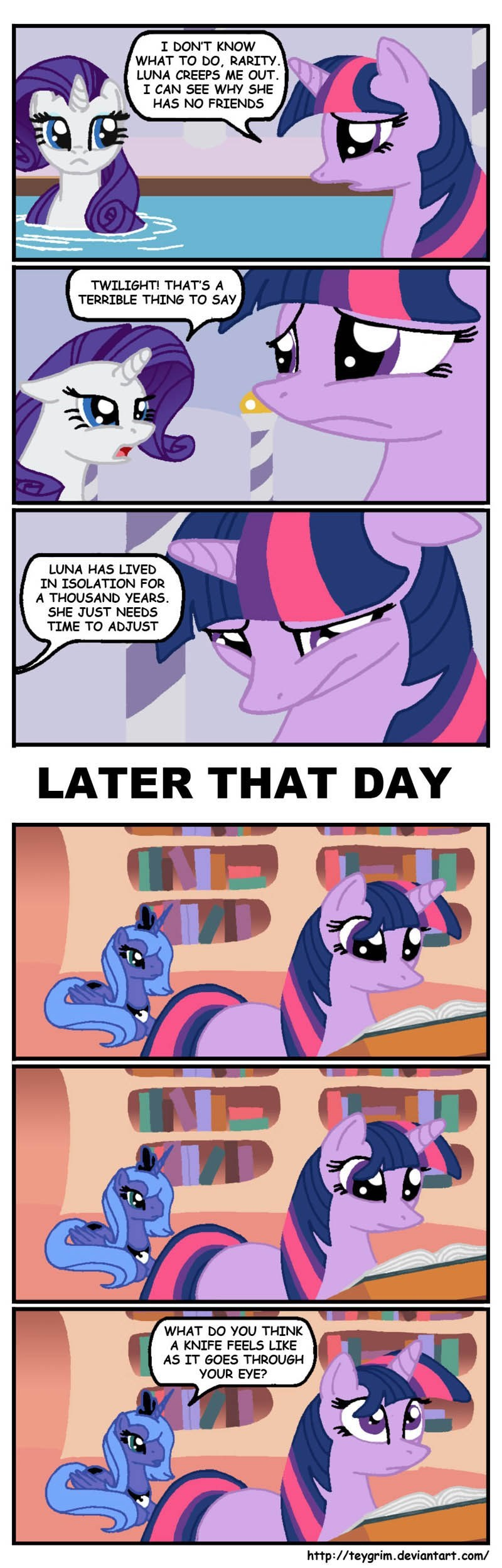 twilight sparkle princess luna rarity comic - 8971991040