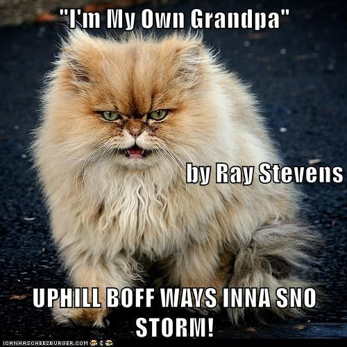 """I'm My Own Grandpa""  by Ray Stevens UPHILL BOFF WAYS INNA SNO STORM!"